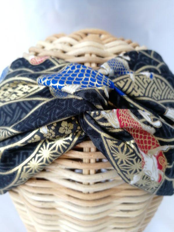turbante estampado karpa negro